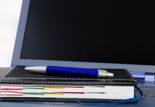 Free Laptop And Agenda Royalty Free Stock Photo - 10307065