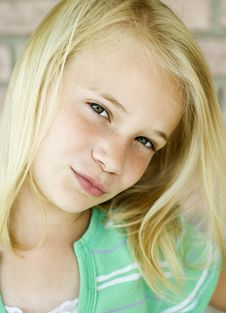 Free Beautiful Little Blonde Haired Girl Royalty Free Stock Photo - 10308165