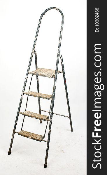 Dirty aluminum ladder
