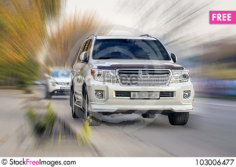 Free White Car. Royalty Free Stock Photography - 103006477