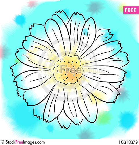 Free Watercolor  Flower Royalty Free Stock Images - 10318379