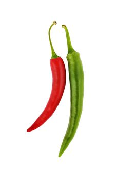 Free Red And Green Hot Chili Peppers Royalty Free Stock Image - 10310126