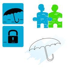 Free Safety - Icon Set Royalty Free Stock Photos - 10310748