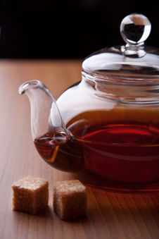 Free Glass Teapot And Sugar Cubes Stock Images - 10311174