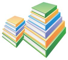 Free Two Pile Of  Books Stock Photography - 10311782