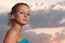 Beauty At Sunset Stock Photography