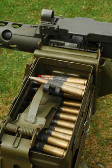 Free Machine Gun Ammo Stock Photo - 10313700