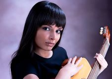 Free Beautiful Woman Playing Guitar Royalty Free Stock Photo - 10314695