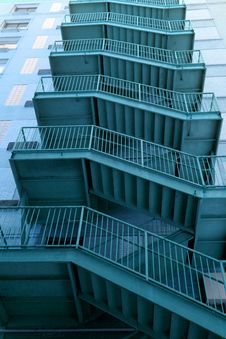 Free Blue Exit Stairs Stock Image - 10314891
