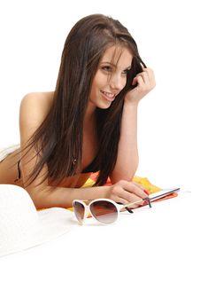 Free Beautiful Sexy Girl In Bikini Laying Royalty Free Stock Photos - 10316038