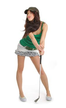 Free Golf Player Woman. Royalty Free Stock Photo - 10316295