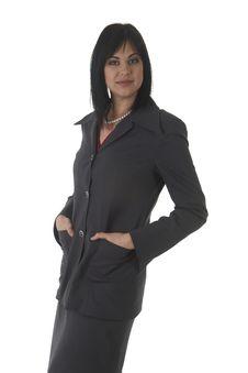 Free Beautiful Brunette Businesswoman Stock Photography - 10316852