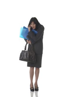 Free Beautiful Brunette Businesswoman Stock Photo - 10316860