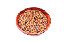 Free Lentils In Wooden Bowl Royalty Free Stock Images - 10317659