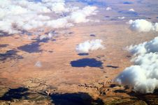 Cloud Over Desert Plain Stock Photos