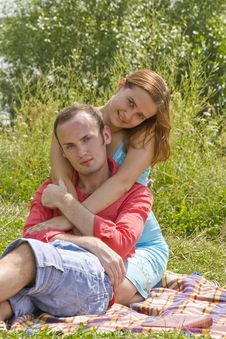 Couple At The Park Stock Photos