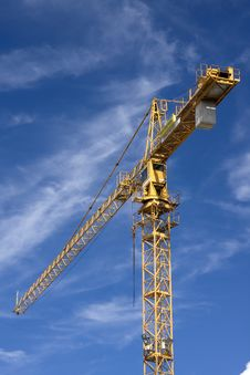 Yellow Mobile Crane Royalty Free Stock Image