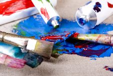 Free Paint Tubes Royalty Free Stock Photos - 10319508