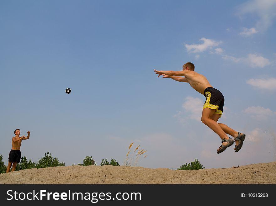 Playing a ball