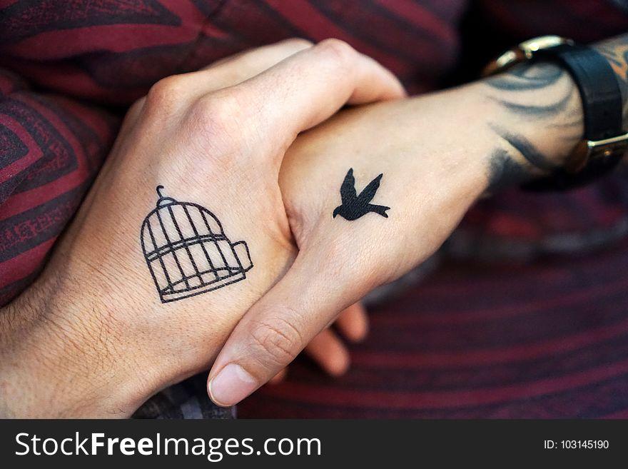 Finger, Hand, Tattoo, Temporary Tattoo