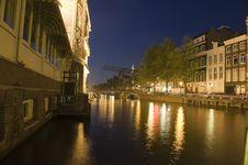 Free Amsterdam At Night Royalty Free Stock Image - 10321086