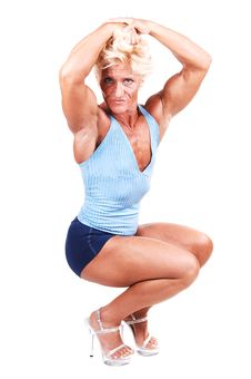 Free Bodybuilding Woman. Royalty Free Stock Photo - 10321315