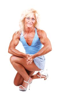 Free Bodybuilding Woman. Royalty Free Stock Image - 10321316