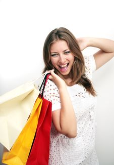 Free Shopping Happy Woman Royalty Free Stock Photos - 10321618