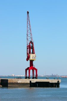 Free Harbor Crane Stock Photography - 10321782