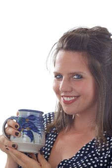 Free Smiling Business Woman Holding Mug Stock Photos - 10321953