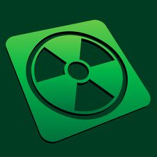 Free Radioactive Icon Royalty Free Stock Photography - 10322087