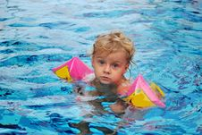 Free Little Girl In Swimming Pool Stock Image - 10322361