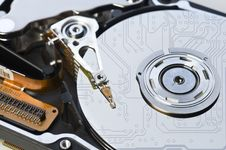 Free Hard Disk With Circuit Reflections Stock Images - 10322984