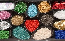 Colour Beads In Form Stock Image