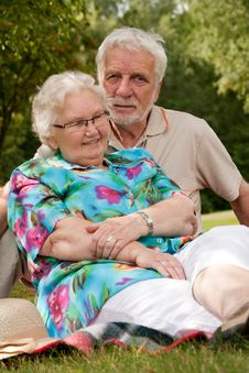 Senior Couple Loving Eachother Royalty Free Stock Images