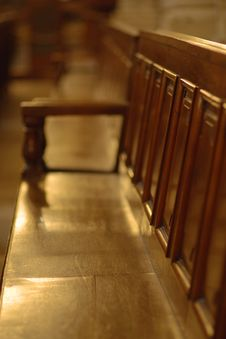 Free Row Of Benches In Church Stock Image - 10325031