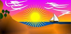 Free Swim To The Sun Royalty Free Stock Image - 10325056