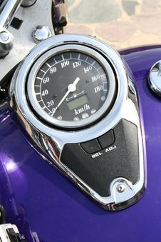 Speedometer Of A Motorcycle Stock Images