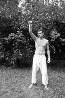 Free Fighting Man Celebrates His Victory Stock Image - 10326571