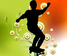 Free Skater In Air Royalty Free Stock Photography - 10326607