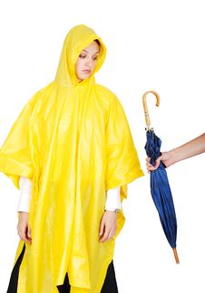 Free Nice Model In Yellow Hood Has Been Offered Royalty Free Stock Image - 10326696