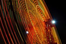 Free Ferris Wheel At Night Stock Image - 10326901