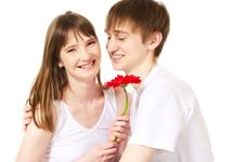 Free Happy Young Couple Stock Photography - 10328002