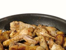 Fried Delicious Chicken Wings Stock Images