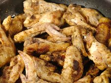 Fried Delicious Chicken Wings Stock Image