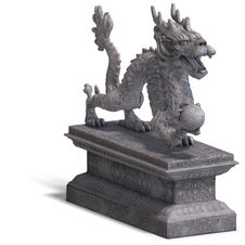 Free Chinese Dragon Stone Statue Royalty Free Stock Images - 10328669