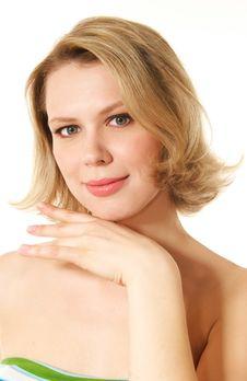 Free Smiling Blonde Woman Stock Image - 10328811