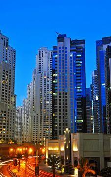 Dubai Highrise Buildings 2 Royalty Free Stock Images