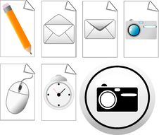 Free Web Icons Royalty Free Stock Photos - 10329138