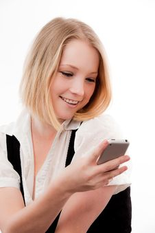 Free Young Woman Text Stock Photo - 10329810
